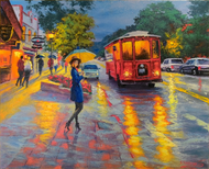 """Night Street Estes Park"" Stanislav Sidorov 20x24"