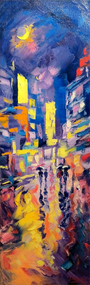 """Moon Light Street New York"" Stanislav Sidorov 10x30"