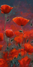 """Poppies"" Terri Sanchez 12x24"