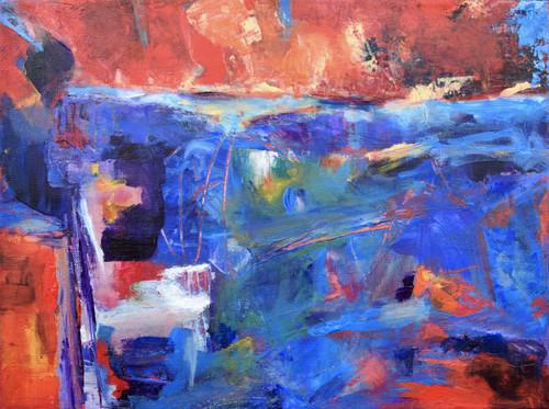 """""""Color Explosion"""" by Laura Brenton 12x16"""