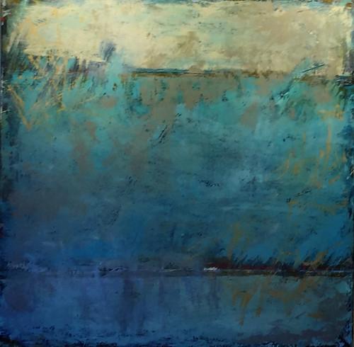 """When the Rain Began"" by Karen Barnett 36x36"
