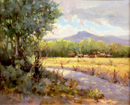 "Original painting by Margaret Jensen, ""A Quiet Golden Moment"", Oil, 16x20"