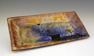 This Sushi Tray is handmade by Bill Campbell based in Cambridge Springs, PA. We offer Bill Campbell's two different Flambeaux glazes Cream/Green/Blue and Gold glaze. All of his porcelain is functional; microwave, oven, & dishwasher safe!