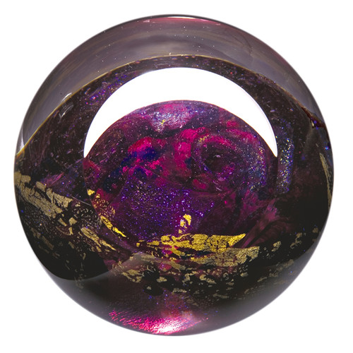 """Venus"" glass paperweight handmade by Glass Eye Studio."