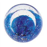"""Neptune"" glass paperweight handmade by Glass Eye Studio."