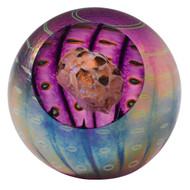 """Juno Asteroid"" glass paperweight handmade by Glass Eye Studio."