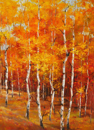 """Festival of Autumn"" 30x40, an orginal oil painting by Tim Howe California artist."