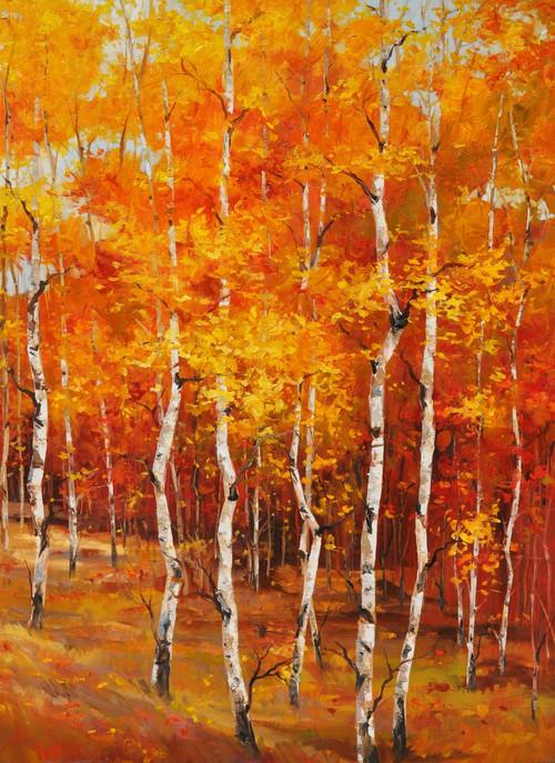 """Festival of Autumn"" 30x40, an orginal oil painting by Tim Howe California artist."