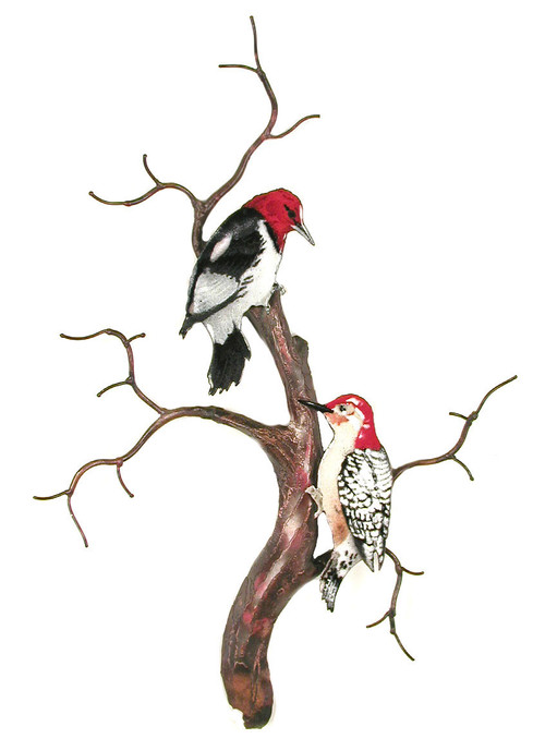 Red Headed and Red Bellied Woodpeckers by Bovano of Cheshire Metal