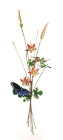 Butterfly and Hummingbird with Columbine by Bovano of Cheshire Metal