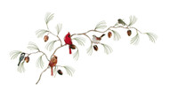 Birds (Variety) on Pine Branch by Bovano of Cheshire Metal