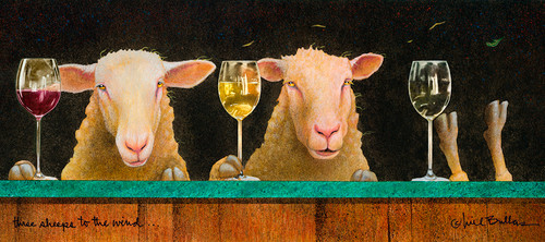 """Three Sheeps To The Wind"" Metal Print by Will Bullas"