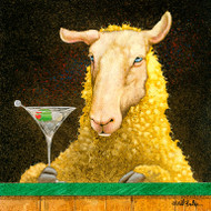 """Sheep-faced"" Metal Print by Will Bullas"