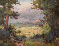 """Lookout at the H Bar G,"" by Margaret Jensen, Oil 11x14, original painting nicely framed."
