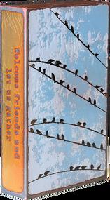 "Houston Llew Spiritile #157, ""Block Party""- Molten glass over copper art."