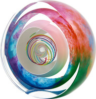 """""""Striped Paperweight with Bubble in Candy"""" by Paul Harrie"""