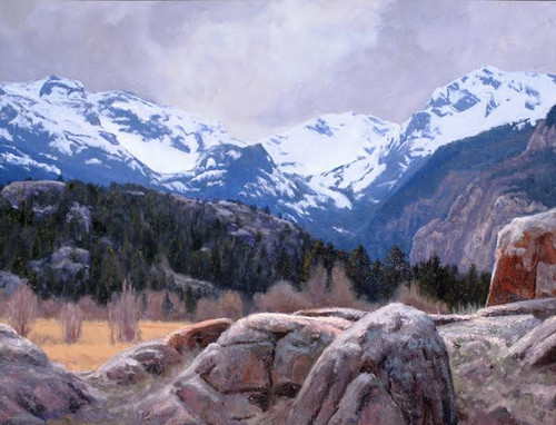 """""""Rocky"""" by James Whartman.  Oil on Canvas.  18x24 inches."""