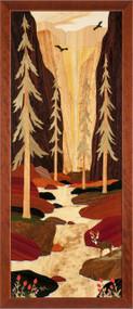 """Deep Ravine""  by Jeff Nelson, 18x40""."