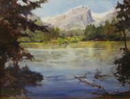 """""""Hallett Cameo"""" by Margaret Jensen,  Oil, 8x10 inches, framed."""