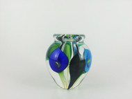 """""""Mini Calla Lily Vase in Triple Blue"""" by Scott Bayless"""