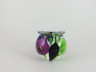 """""""Mini Calla Lily Vase in Blue, Green, and Purple"""" by Scott Bayless."""