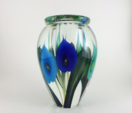 """Extra Extra Large Calla Lily Vase in Tri-Blue"" by Scott Bayless."