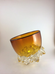 """Small Thorn Vessel in Gold/Topaz and Black"" by Andrew Madvin."