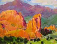 """""""Pikes Peak in the Garden"""" Maggie Renner-Hellmann 8x10"""