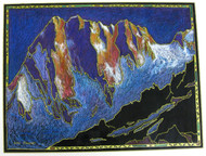 """Grand Jorasse North Face"" by Lou Renner 16x20"