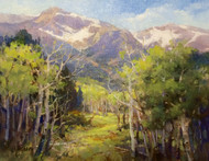 """""""Spring Arriving,"""" by Margaret Jensen, Oil 11x14, original painting nicely framed."""