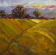 """Green Pastures"" Dawn Normali 24x24"
