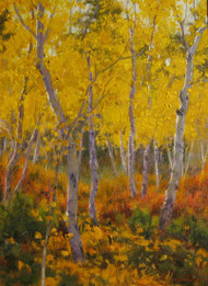 """Autumn Aspen"" James Whartman 9x12"