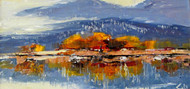 """Across the Lake (Estes)"", George Coll, 8x16"