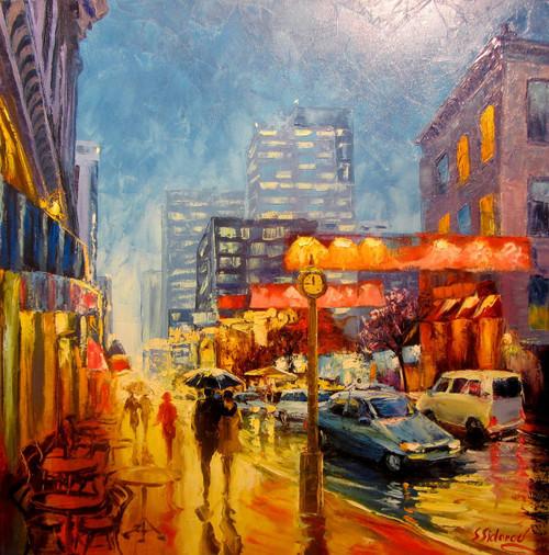 """Larimer Square, Downtown Denver"" Stanislav Sidorov 24x24"