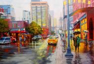 """""""Cafe Oxford, Downtown Denver"""" Stanislav Sidorov 24x36"""