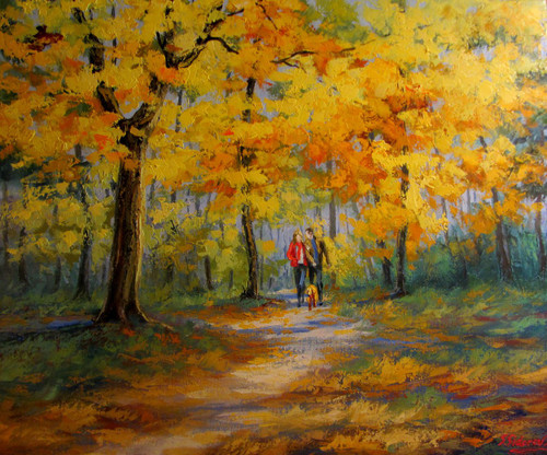 """Autumn Path"" Stanislav Sidorov 20x24"