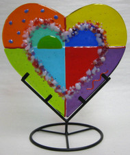 """Color Block Mini Heart"" by Anne Nye"