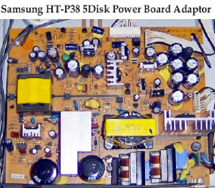 Samsung HT-P38/HT-P50 5Disk DVD Home Theater AC Power Supply PCB