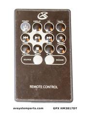 GPX HM3817DT Remote control