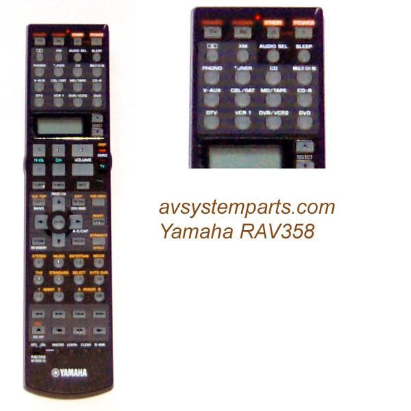 Yamaha Rxv2600 Vd1601 Remote Control Rav358 Wf36560us