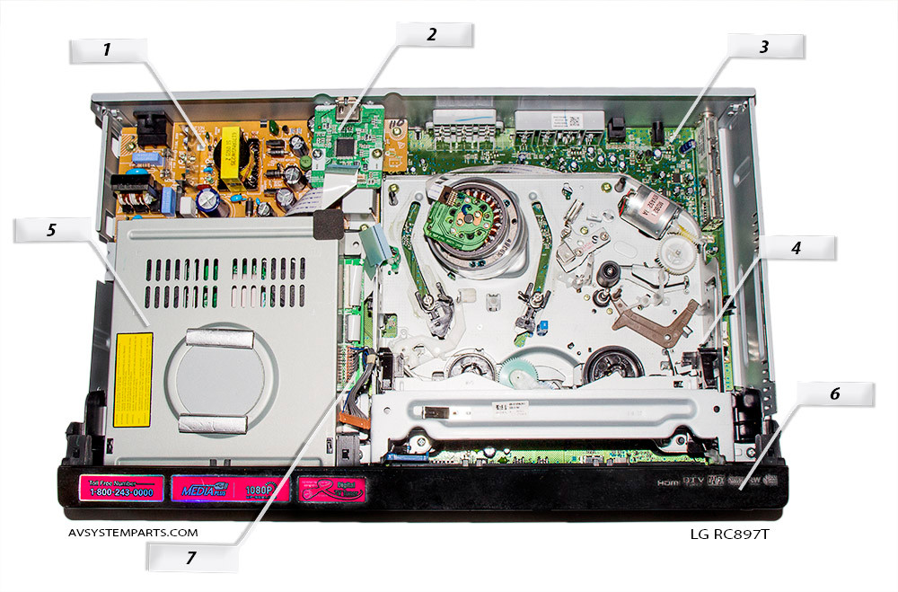 Lg RC897T,RC-897T Parts,EAX39561401,EBR43341204,RH300