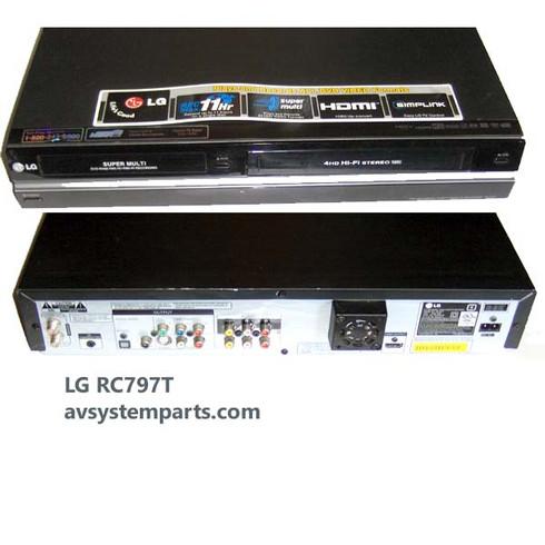 lg rc797t super multi dvd vhs recorder 1080i hdmi w tv tuner rh avsystemparts com DVD Recorder VCR Combo Walmart lg rc199h dvd recorder vcr combo manual