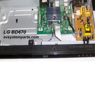 LG BD670 Player parts:BD Loader,AAX73307643,EAX6104604,FRONT COVER