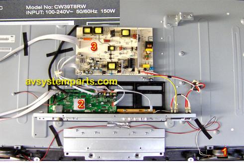 TV Westinghouse CW39T8RW Parts