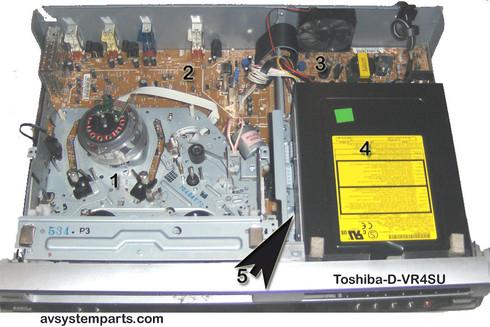Toshiba D-VR4SU Parts