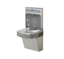 Elkay Wall Mount Drinking Fountain with Bottle Filler Station - LZS8WSLK