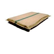 Large Hessian dog bed Plush