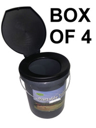 BOX OF 4 Portable Bucket Toilets Goldfields Leisure