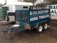 Dual Axle Cage Trailer with Ramps - Hire Trailer