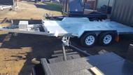 15 X 6 Galvanised Tipper Car Carrier Heavy Duty 2800kg ATM, Hydraulic Tilt. Break Away System, Electric Brakes, Semi Flat Top, Tool Box, Jockey Wheel